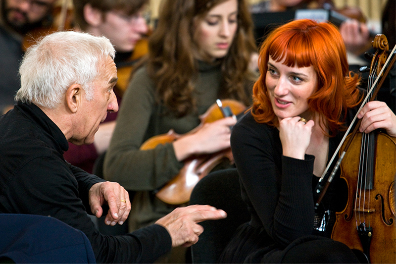 Ashkenazy with Southbank Sinfonia Violinist, Charlotte Maclet (2011)